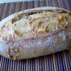 Pan de espelta con queso (masa madre)