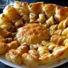 Tarta soleil de foie,queso y manzana