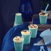 Helado de yogur y chocolate blanco