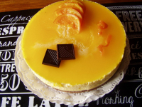Tarta mousse de naranja (sin lactosa)