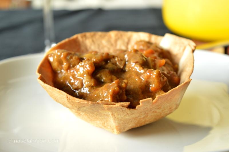 guiso en cesta de tortilla de trigo15